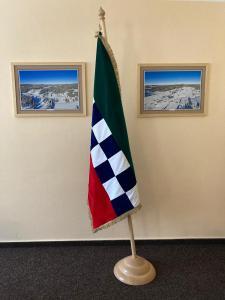 Slavnostní sametová vlajka obce Modrava
