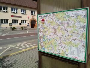 mapa města Chýnov