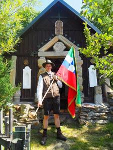 Vlajka obce Modrava - slavnost