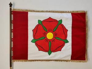 Sametová vlajka města Bavorov líc