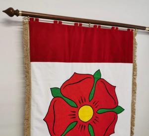 slavnostní sametová vlajka oboustranná Bavorov