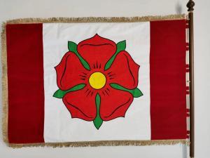slavnostní sametová vlajka Bavorov rub