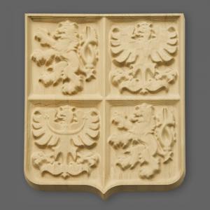 Velký státní znak ze dřeva