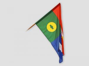 Slavnostní vlajka obce Slapsko u Tábora