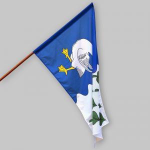 Slavnostní polyesterová vlajka oboustranná obce Myštice