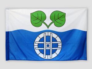 Slavnostní tištěná vlajka obce Trotina
