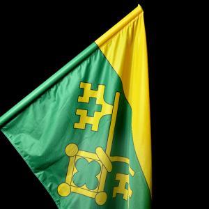 Slavnostní saténová vlajka pro obec Velká Chyška